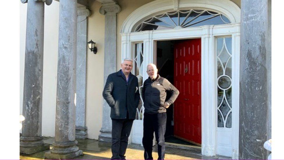 Stephen Walker with Kevin Neville, the current owner of Whitechurch House