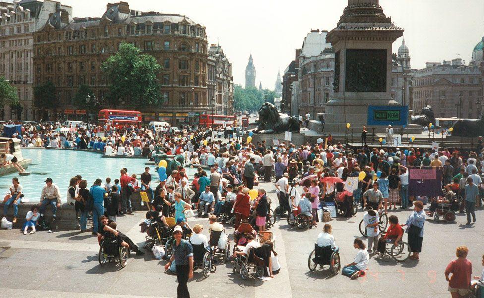 Protest in Trafalgar Square