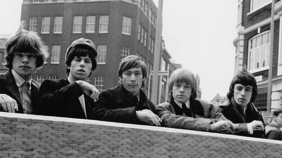 The Rolling Stone in 1964: (L-R) Mick Jagger, Keith Richards, Charlie Watts, Brian Jones and Bill Wyman