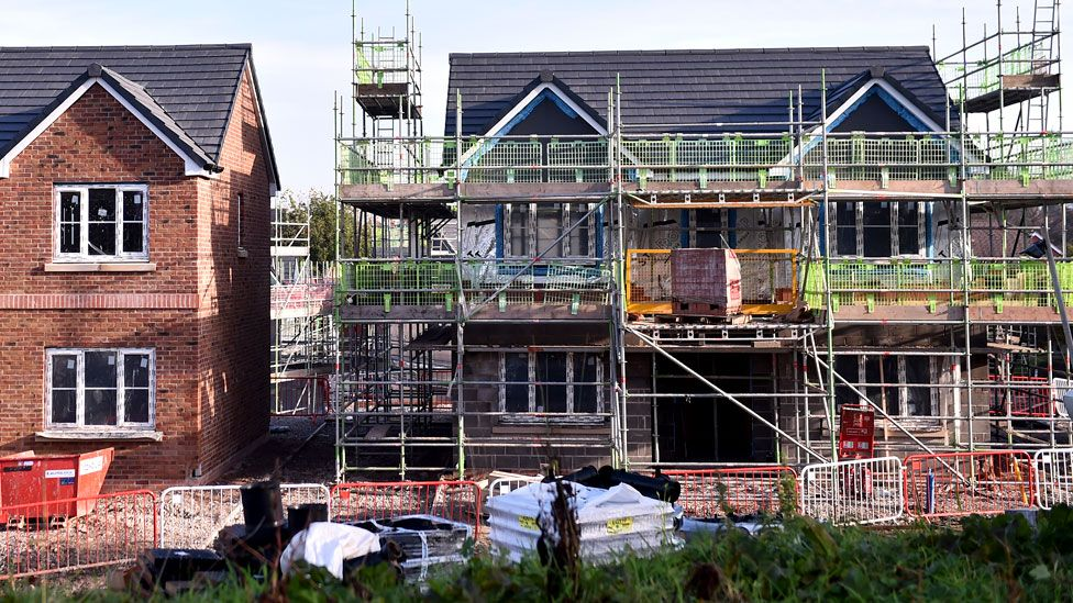 New homes being built in the UK