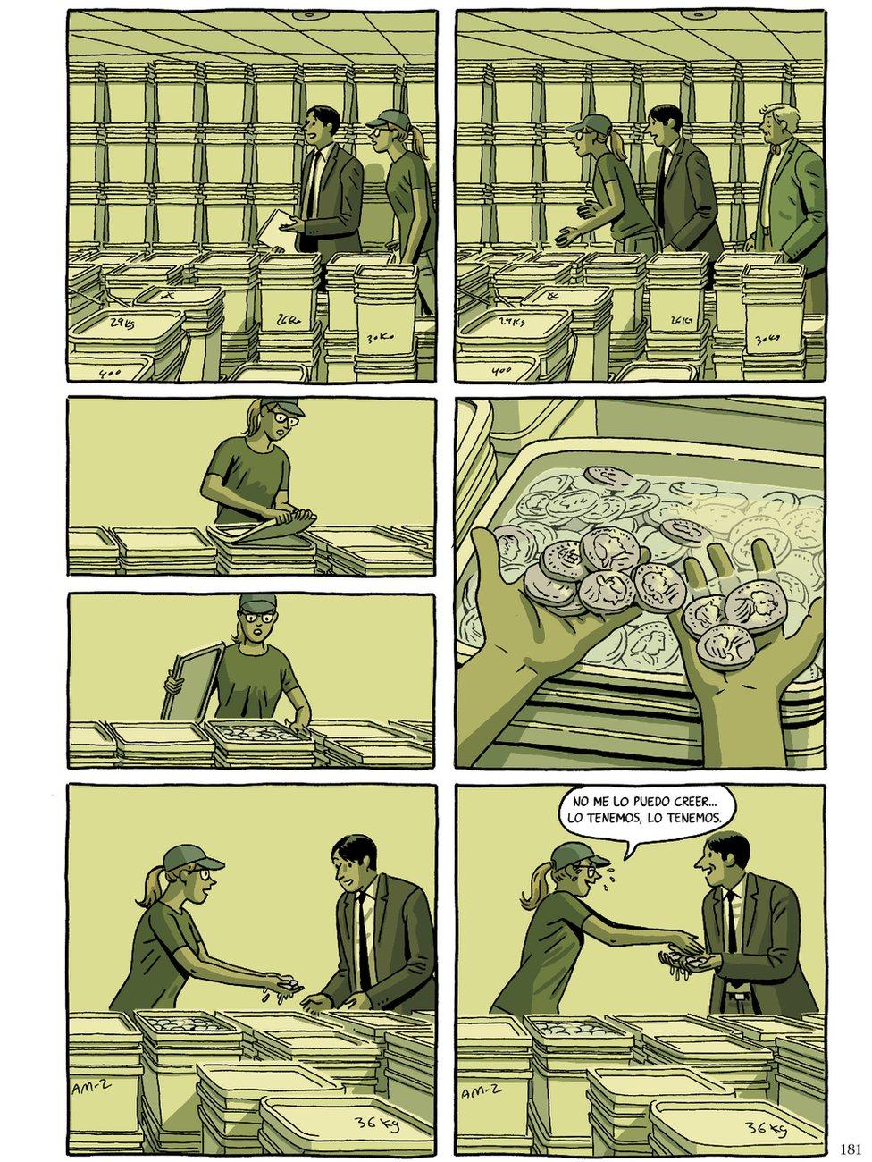Illustration of treasure hunters