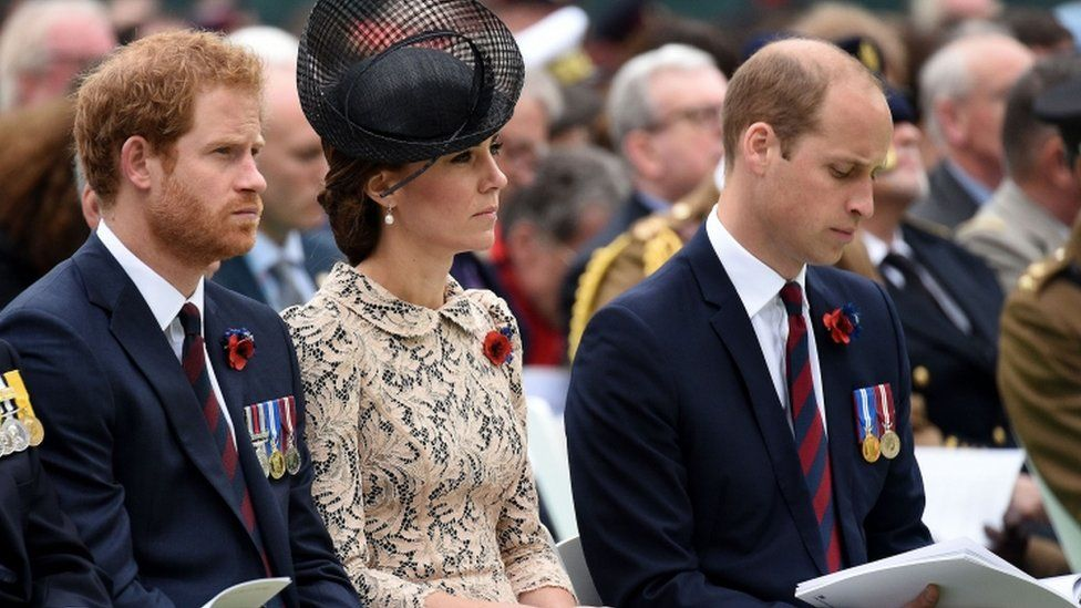 Prince Harry with the Duke and Duchess of Cambridge