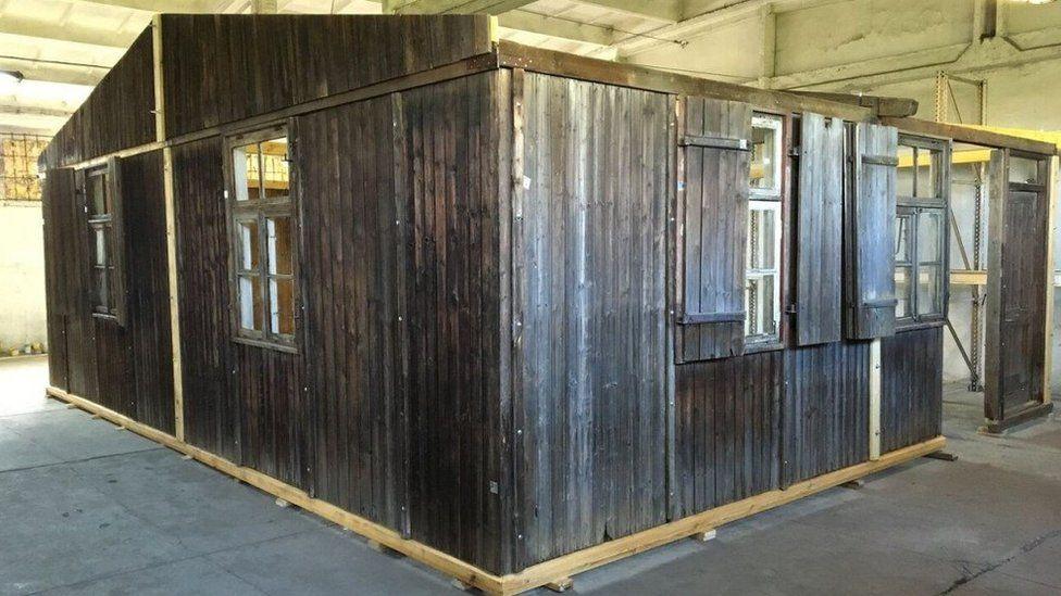 A barracks from Auschwitz III-Monowitz