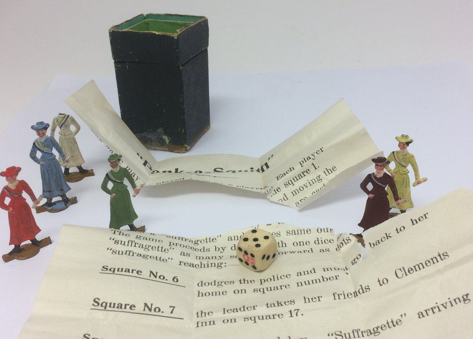 The game with dice and instructions