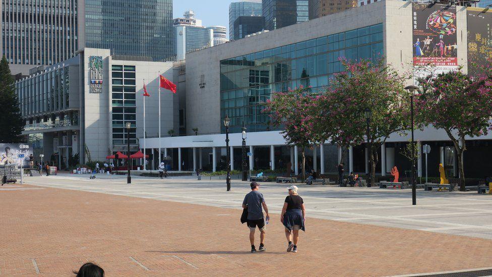 香港大会堂外之旗杆(3/1/2020)