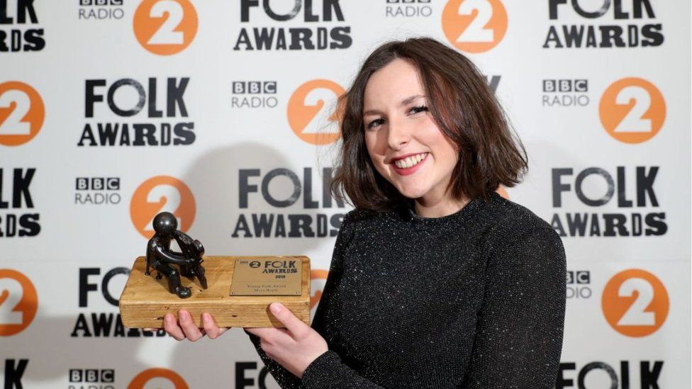 Mera Royle, a young harpist from the Isle of Man, won the Young Folk Award
