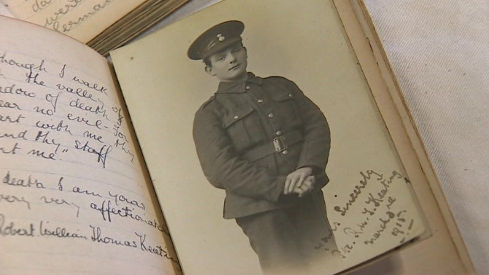 Pte Robert Keating photo and diary