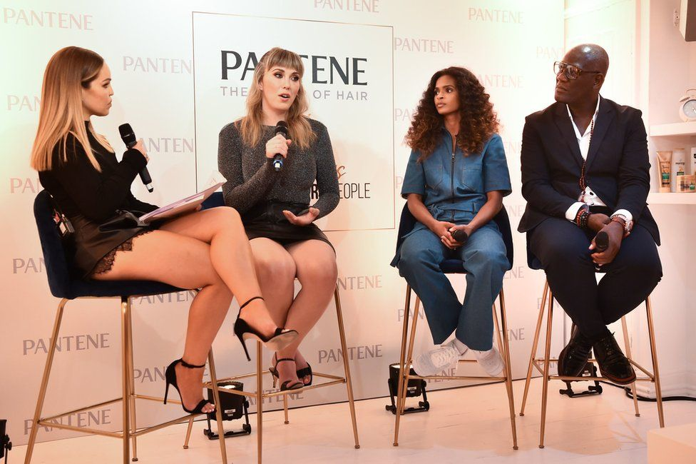 Katie Piper, Paris Lees and Ramla Ali and special guest Errol Douglas attend a live podcast, hosted by Pantene, about the power of hair in women's lives