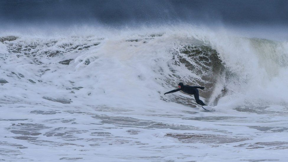Surfer on the north coast