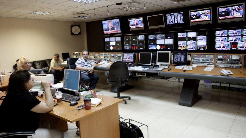 Greek TV studio