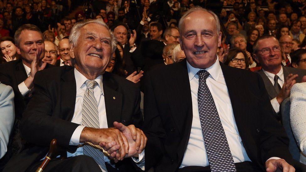 Bob Hawke and Paul Keating