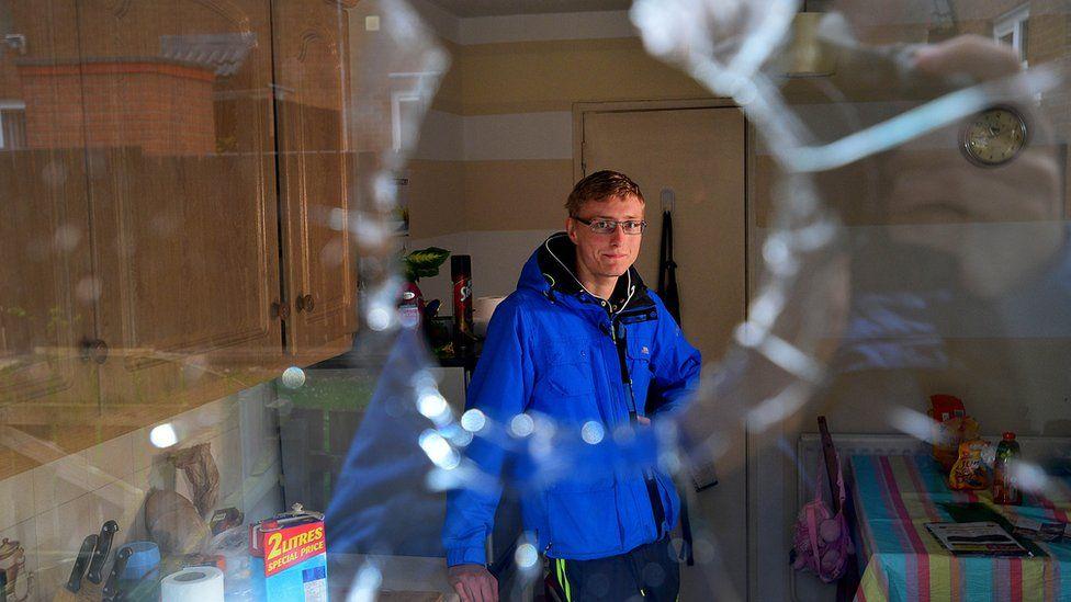 Patrik Grzechnik at his home in Antrim
