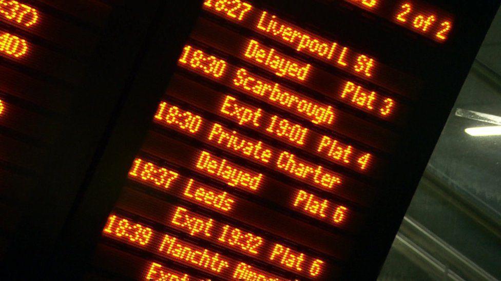 Victoria station departures board
