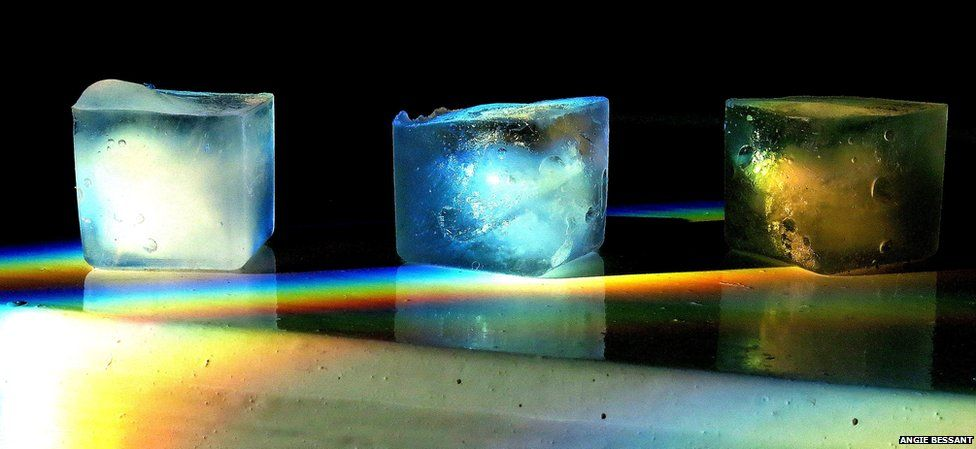 Cubes of ice and light
