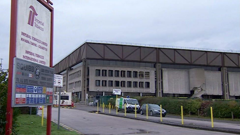 Outside the factory