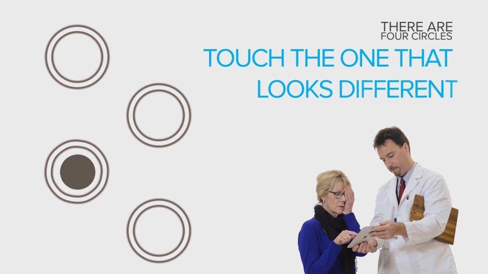 Screengrab of eye testing app
