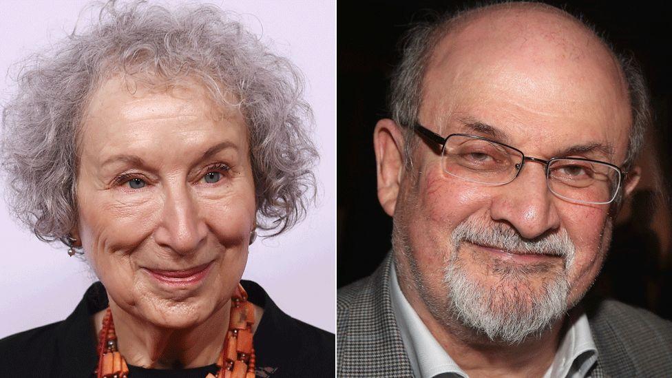 Margaret Atwood and Salman Rushdie