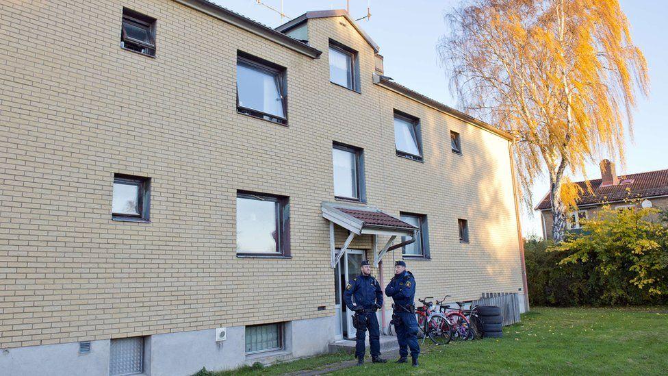 Apartment block where alleged killer lived