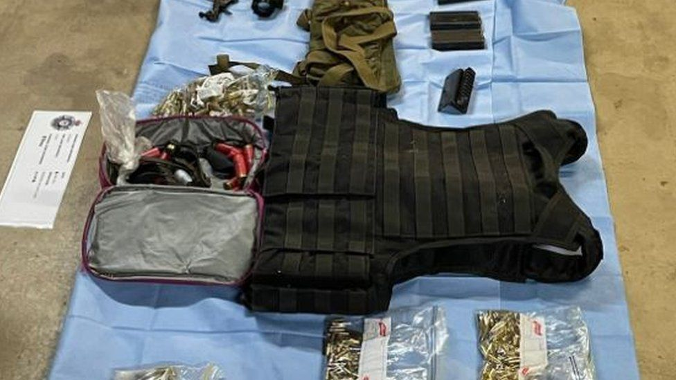 Weapons seized by the police