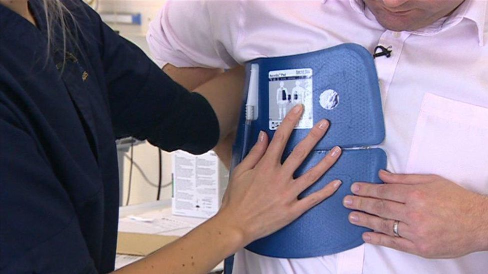 This is what the pads, which cool down the patients, look like
