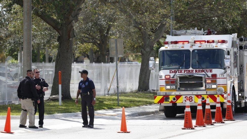 Authorities respond to a threat in Davie, Florida