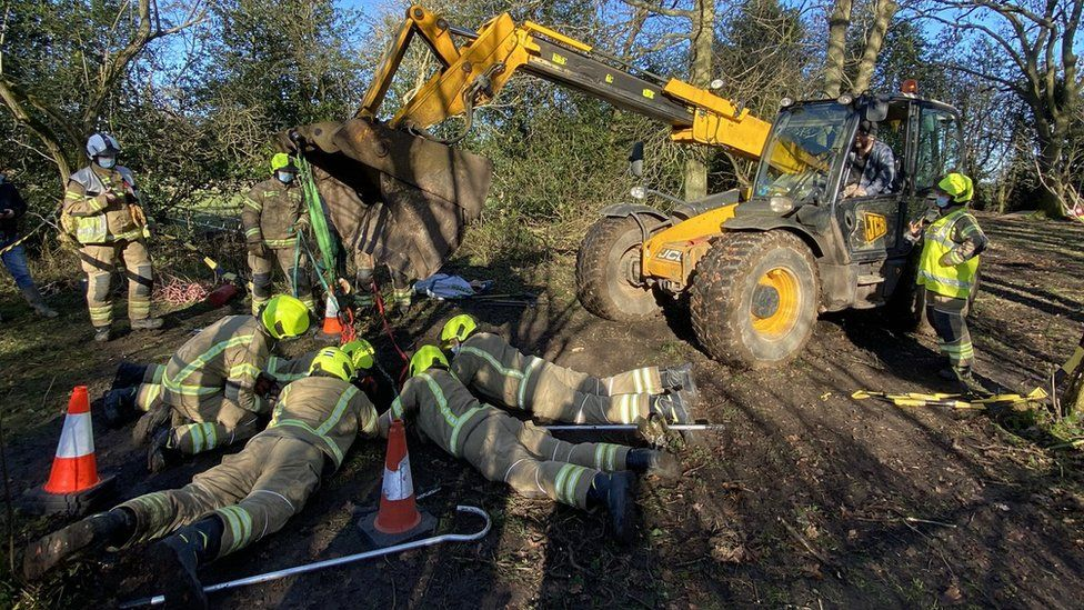 Rescue operation of a pony
