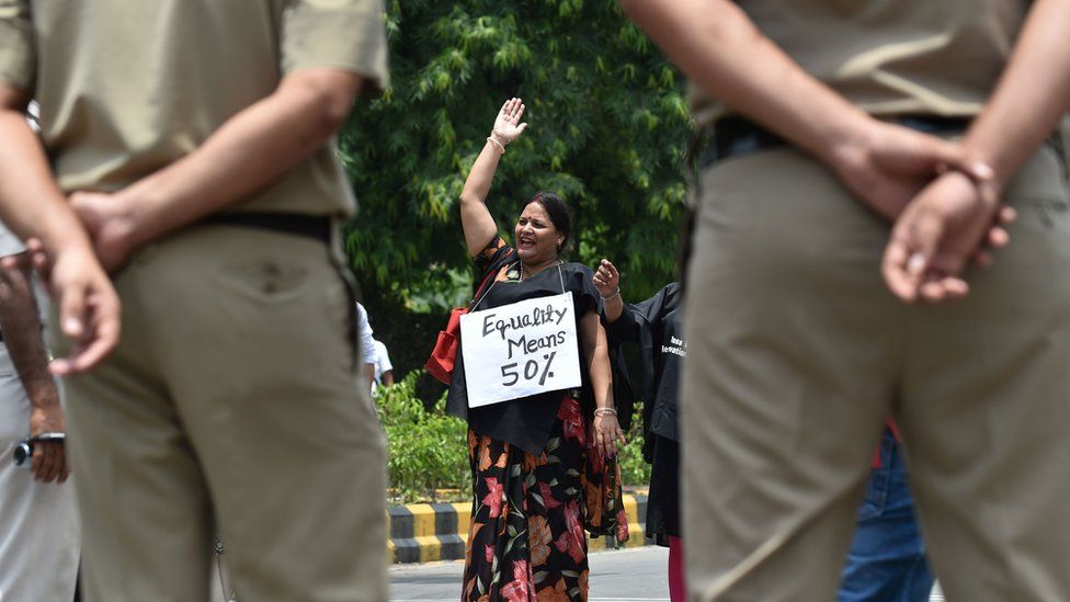 India woman protester