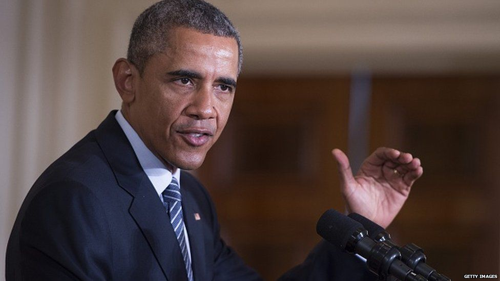 Obama speaking on climate change
