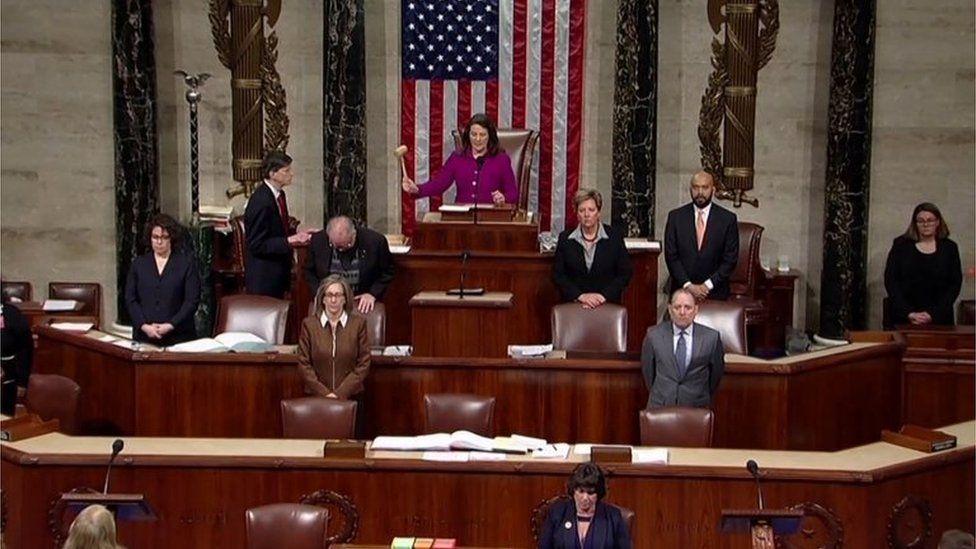 House Representatives start debating impeaching President Donald Trump, 18 December 2019