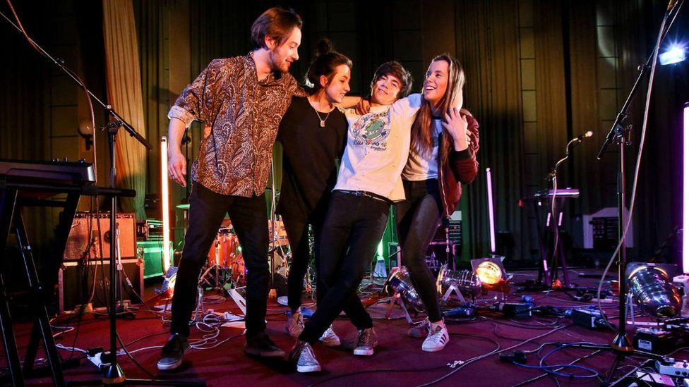 Declan McKenna and his band