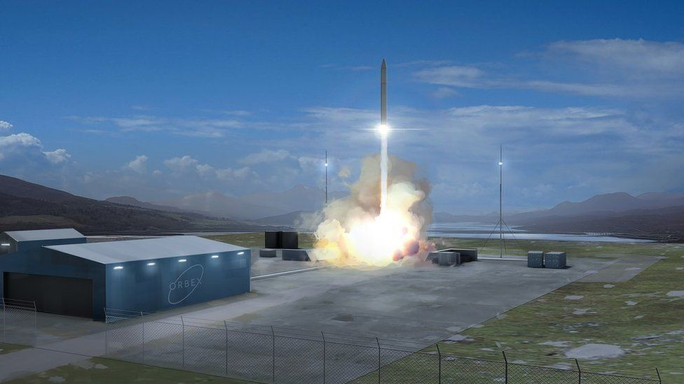 Illustration of an Orbex launch