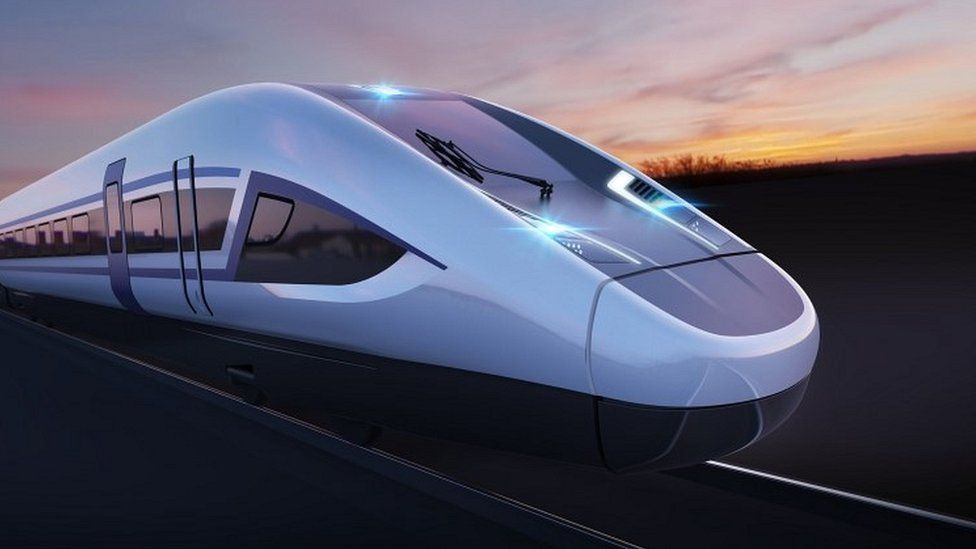 CGI of HS2 train
