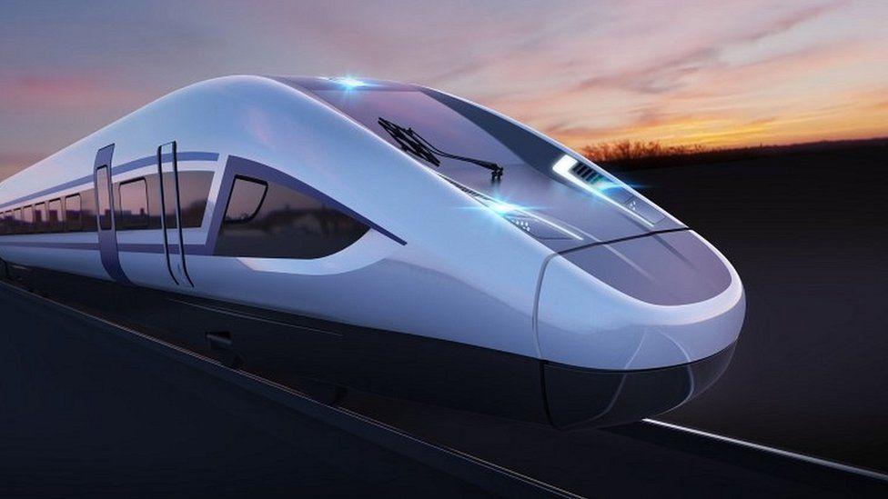 CGI of HS2 train