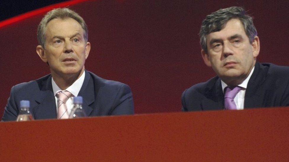 Tony Blair and Gordon Brown pictured at the Labour Party conference in 2006
