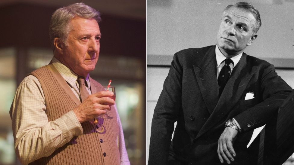 Dustin Hoffman and Laurence Olivier