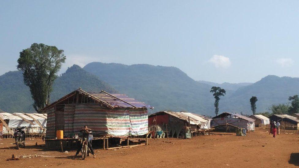 Displaced people camp