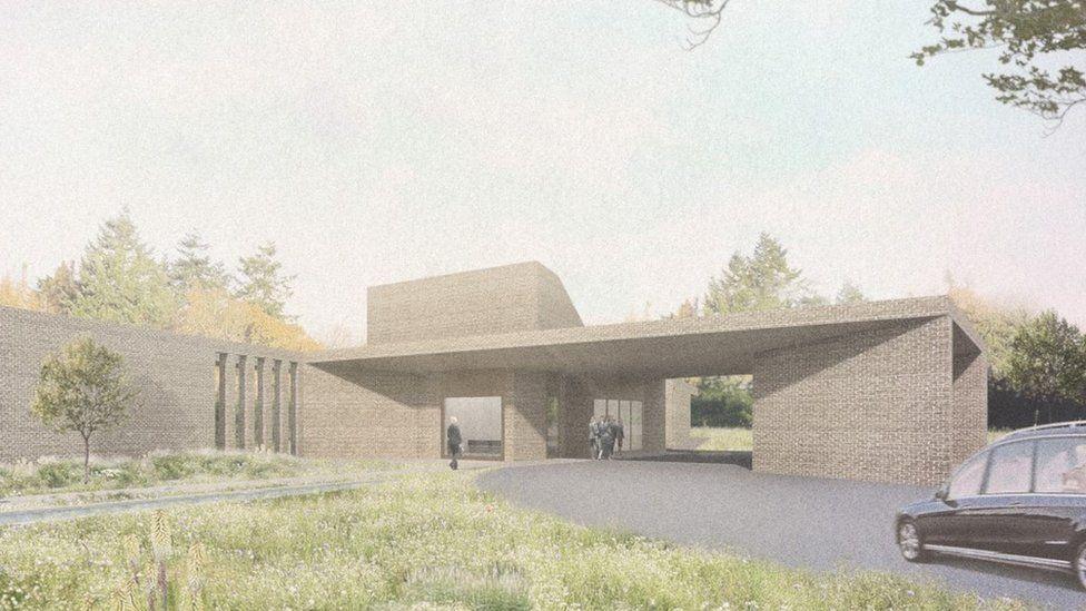Artist's impression of new crematorium