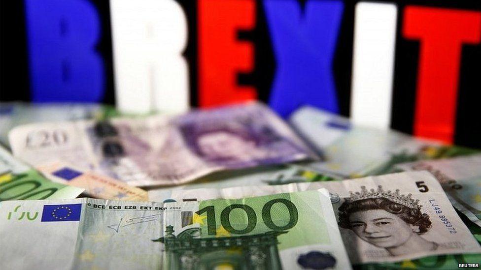 Pound notes and euros