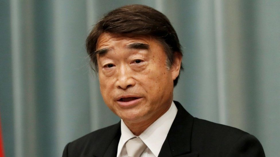 Japanese Health and Labour Minister Takumi Nemoto