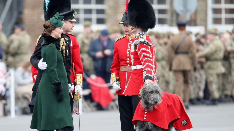 Catherine, Duchess of Cambridge and Prince William, Duke Of Cambridge attend the annual Irish Guards St Patrick's Day Parade