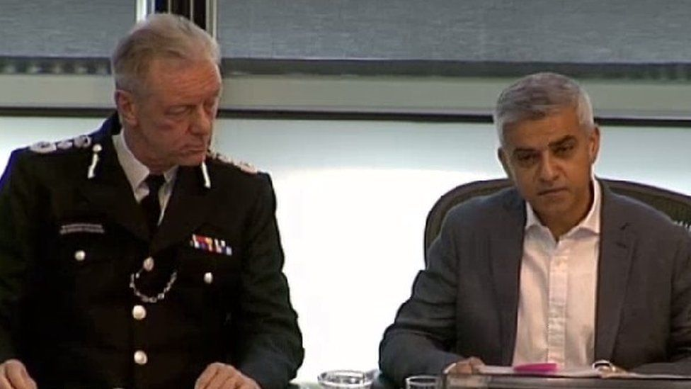 Sir Bernard Hogan-Howe and Sadiq Khan