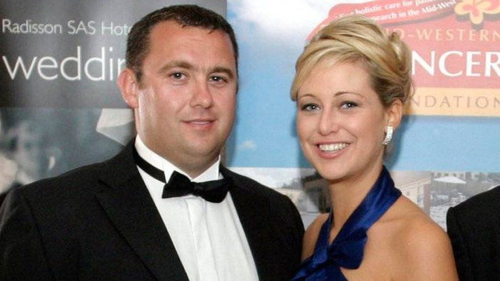 Jason Corbett and his wife Molly Corbett at a function in Ireland in 2009