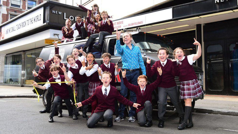 Andrew Lloyd Webber and School of Rock cast