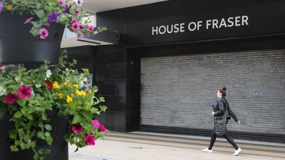 House of Fraser's store in Middlebrough