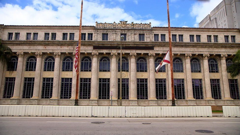 The Miami court where Sissoko stood trial