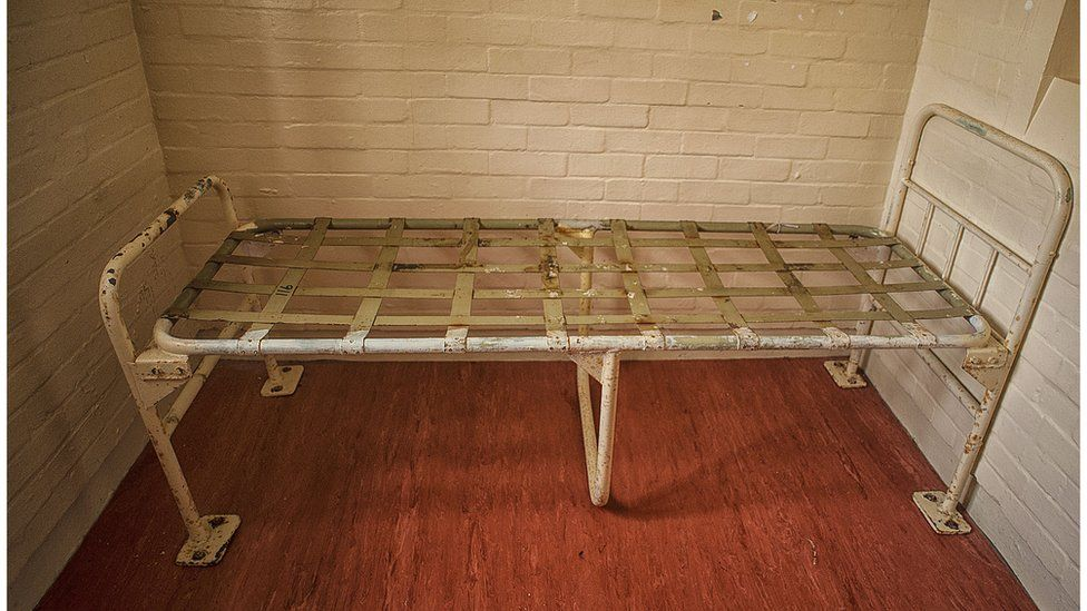 The bed in Reggie Kray's old cell