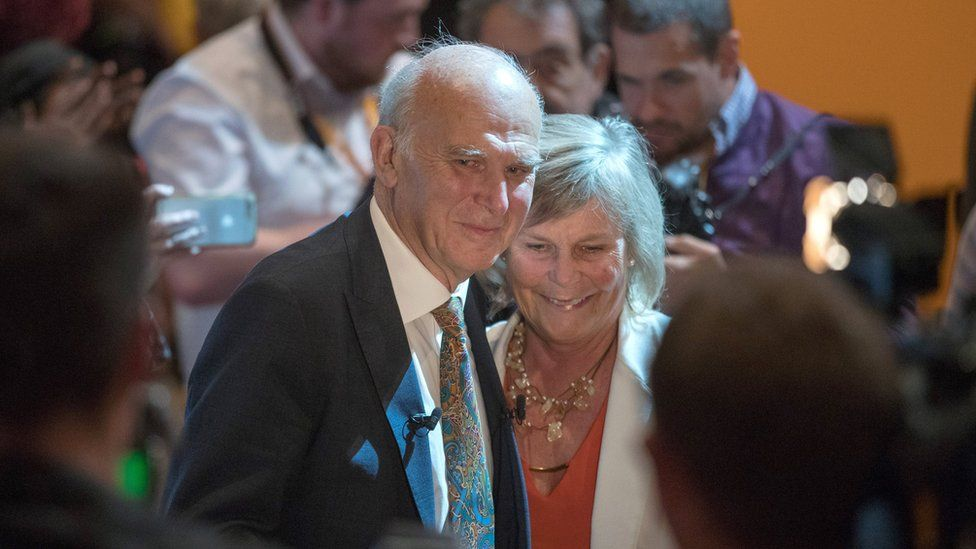Vince Cable and wife Rachel