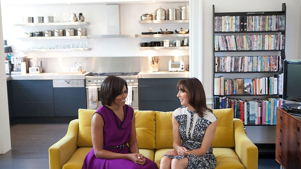 Michelle Obama and Samantha Cameron in the Downing Street flat