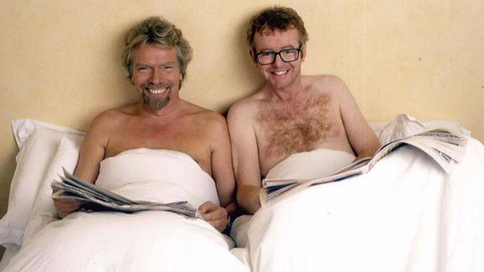 Chris Evans with Sir Richard Branson