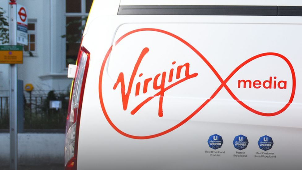 Back of Virgin media van